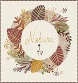 Floral autumn design vector image vector image