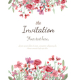 Flower invitation card