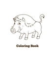 Forest animal boar cartoon coloring book vector image vector image