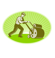 groundsman grounds keeper vector image vector image