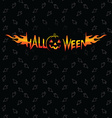 Halloween holidays and zombie theme seamless vector image