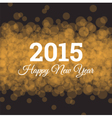 happy new year 2015 card light background vector image vector image