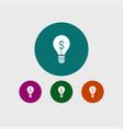 idea bulb icon simple vector image vector image