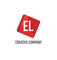 initial letter el logo template design vector image vector image