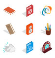 instrumentalist icons set isometric style vector image vector image