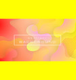 liquid red yellow gradient color abstract vector image vector image