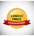 Lowest Price Golden Label vector image