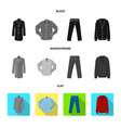 man and clothing sign set vector image vector image