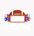 marquee board announcement with american football vector image vector image