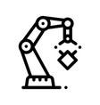 mechanic robot transportation crane icon vector image