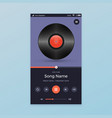 music player ui app design vector image vector image