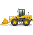 Old Bulldozer vector image