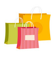 paper shopping bags cartoon vector image