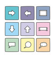 pastel icon set isolated on white vector image vector image
