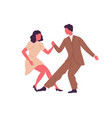 professional dancers pair demonstrate lindy hop or vector image vector image