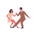professional dancers pair demonstrate lindy hop vector image vector image