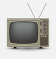 realistic old vintage tv vector image vector image
