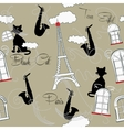 Seamless pattern with Paris music vector image vector image