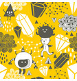 seamless pattern with strange creations and design vector image vector image