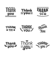 Set of vintage style Thank You labels emblems vector image vector image
