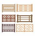 set of wood fences vector image