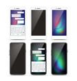 smartphone mockup set design black and vector image