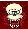 smile skull vector image vector image
