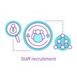 staff recruitment concept icon vector image vector image