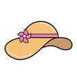 summer hat to be in the beach vector image vector image