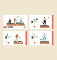 summer outdoor sport activity jogging healthy vector image