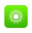 sun icon digital green vector image vector image