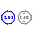 textured 000 scratched stamp seals with ribbon vector image vector image