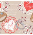 Valentine retro seamless pattern with wedding ring vector image vector image