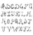 vignette alphabet vector image vector image