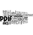 what is s pdif text word cloud concept vector image vector image