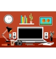 Workplace Empty monitor Office vector image