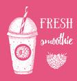 Fresh raspberry smoothie vector image