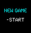 8 bit new game vector image vector image
