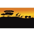 Animals in hill scenery vector image vector image