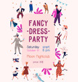 announcement fancy dress party at nightclub vector image vector image