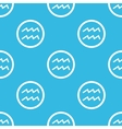 Aquarius sign blue pattern vector image