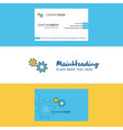 beautiful gear logo and business card vertical vector image