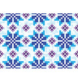 blue cornflowers pixel on a blue background vector image vector image