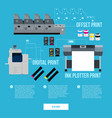 business technology concept vector image vector image
