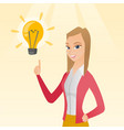 business woman having business idea vector image vector image