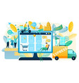 buying goods on sale in online shop concept vector image vector image