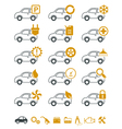 Car repair and service icons vector image vector image