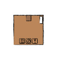 cardboard box carton delivery packaging vector image