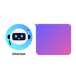 chat bot concept for virtual vector image