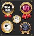 collection of elegant golden premium best seller vector image vector image